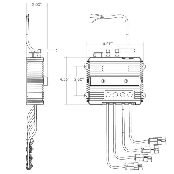 Trigger 4 Plus Wireless Accessory Controller 2100 Dimensions